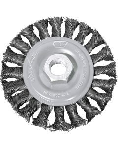 4'' Cable Twist Wire Wheel for Angle Grinder, 5/8-11 Thread