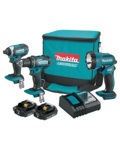 Makita CT320R 3-Piece 18V 2.0Ah Compact Lithium-Ion Combo Kit