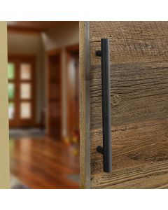 Finishes are perfectly matched to our I-Semble Rolling Barn Door Hardware Kits