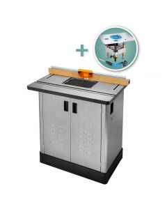 Bench Dog Cast Iron Router Table, Pro Fence, Steel Cabinet & Pro Lift Router Lift
