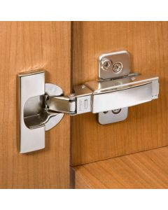 Blum® 95° Thick Door Clip Top Frameless Overlay Hinges - Snap Closing Hinges
