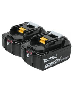 Makita 18V LXT Lithium-Ion 5.0Ah Batteries, 2-Pack
