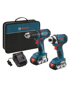 Bosch 18V 1/2'' Compact Drill/Driver and 1/4'' Hex Impact Driver Combo Kit