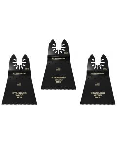 Universal-Fit Multi-Tool Blades, 2-1/2'' Fast-Cutting for Wood, High-Carbon Steel, 3-Pack