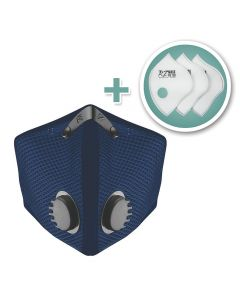 Large M2 Mesh Face Mask with Bonus 3-Pack HEPA Filters, Navy