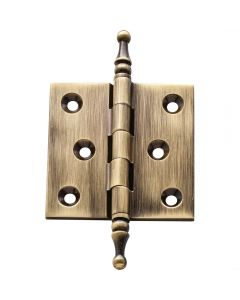 Antique Brass Finial Tip Hinges 2