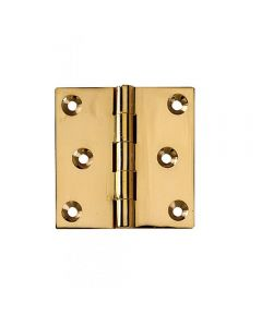 Polished Brass Fixed Pin Extruded Hinges 1-1/2