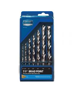 These brad point drill bits are made from select steel alloys that are carefully heat-treated to create a durable high-speed steel tip.