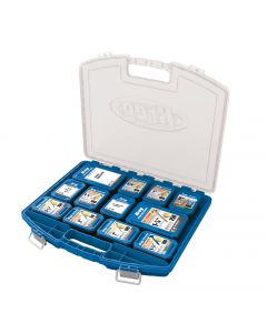 A compact, portable, stackable storage case (hardware and screw boxes sold separately)