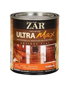ZAR® Ultra Max Oil-Modified Waterborne Polyurethane, Antique Flat, Quart