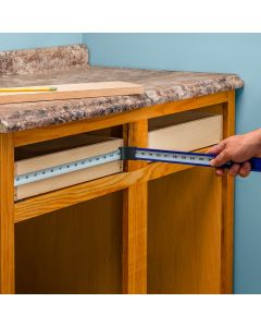 Measure the inside dimensions of cabinets without having to bend your tape measure