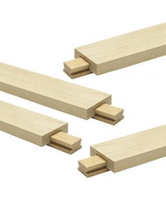 Classic Wood Center-Mount Drawer Slide, 4-Pack