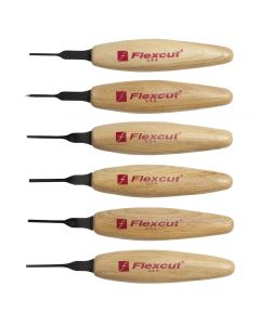 FlexCut MT910 1.5mm Mixed Profile Micro Carving Tool Set