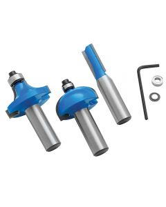 Rockler 3-Piece Router Bit Set, 1/2'' Shank