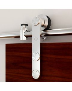 Rolling Barn Door Hardware Kit Stainless Steel Vertical Strap