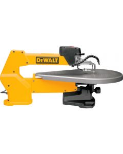 DeWalt DW788 Scroll Saw pictured with optional accessories sold separately: 60198 - Work Light and 60189 - Stand