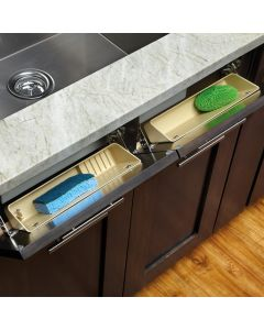 "Sink Front Tip-Out Tray - Rev-a-Shelf 6572 Series - 11"" Wide"