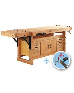 Sjobergs Elite 2500C Workbench with Cabinet SMO4 and Accessory Kit