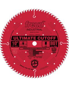 "10"" x 80T Freud Industrial Ultimate Cut-Off Blade (LU85R010)"