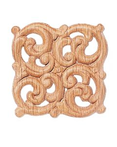 "2-1/8"" x 2-1/8"" Birch Embossed Carving"