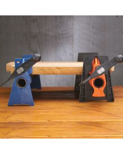 Raises clamp higher off bench for greater handle clearance and to match Rockler's Sure-Foot clamps.
