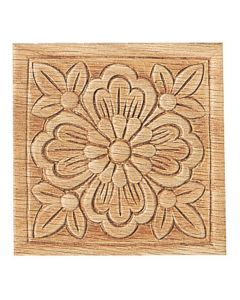 3-1/2'' Square Embossed Carvings
