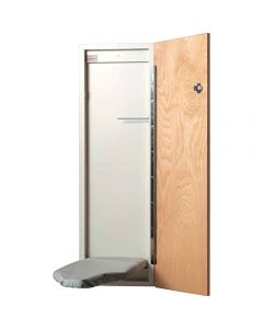 Hide away unit comes with ironing board cover and pad, and choice of three door styles, or with no door