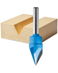 Rockler Solid Carbide Sign Making Router Bit - 19/32