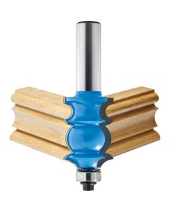 """Rockler Specialty Molding Router Bit - 1"""" Dia x 1-3/8"""" H x 1/2"""" Shank"""