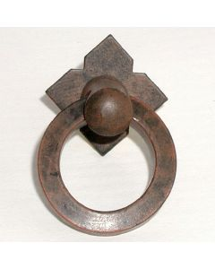 Patina Rouge Small Smooth Ring Pull with Backplate