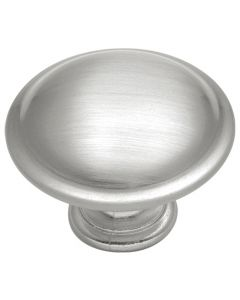Satin Nickel Conquest Round Rimmed Knob
