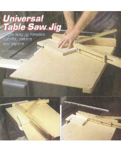 Universal Table Saw Jig Downloadable Plan