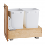 Double 35 Quart Containers, Door Mount, White (4WC-18DM2)