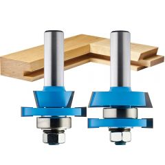 Freud 97-158 3 Piece Door Router Bit Set with Premier 99-760 Rail and Stile System and 99-569 Raised Panel Bit with Backcutter