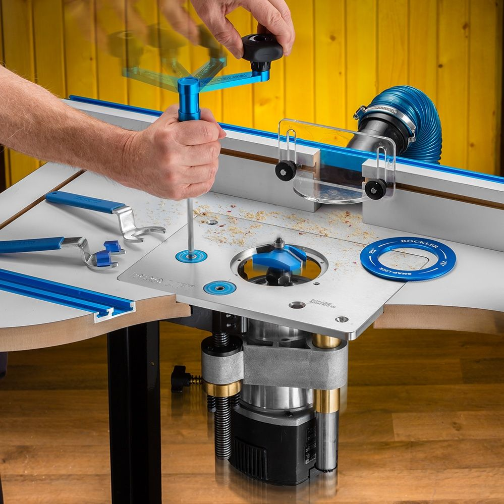 Rockler Pro Lift Router Lift 8 1 4 X 11 3 4 Plate