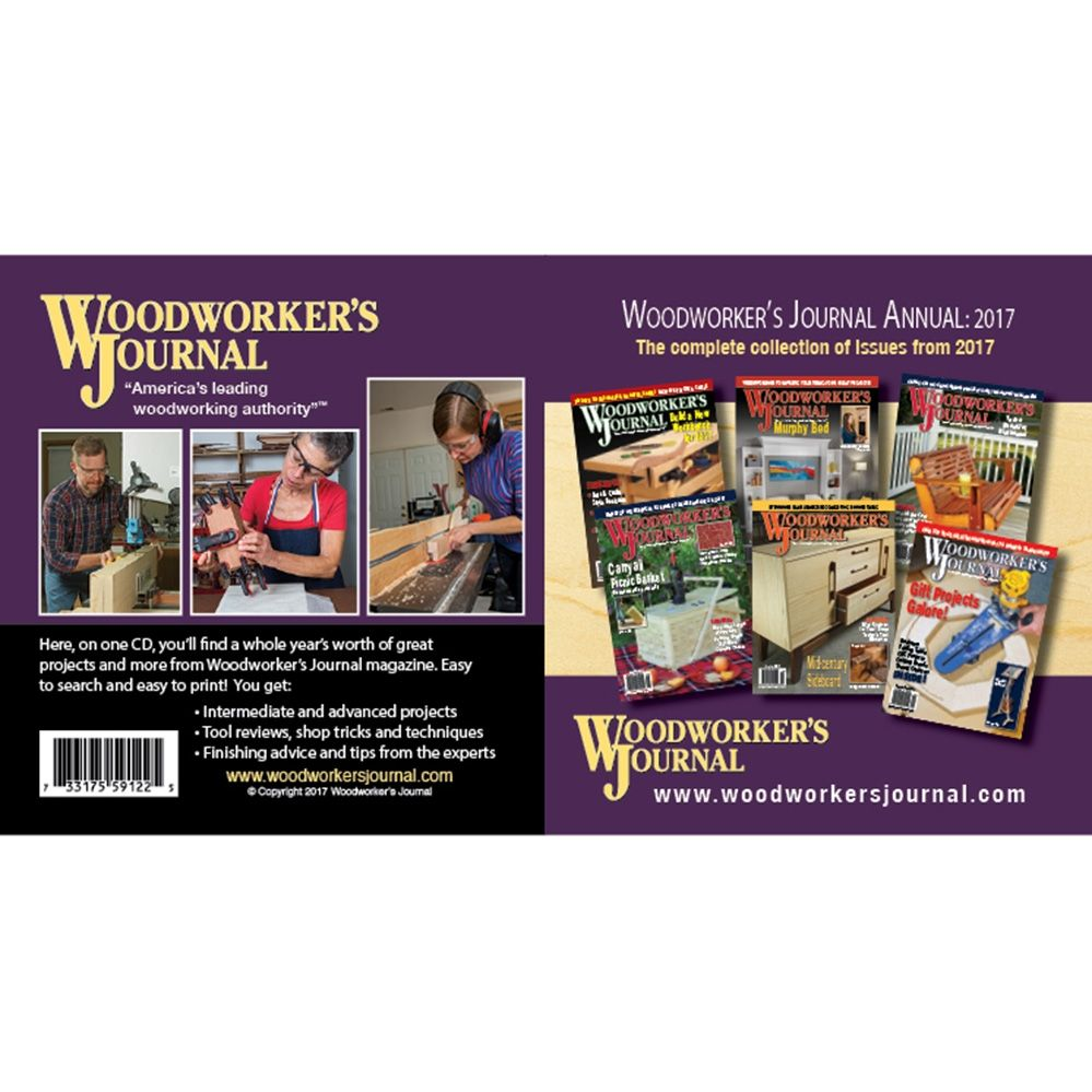 Woodworker S Journal Annual Collection 2017 Cd Rockler Woodworking