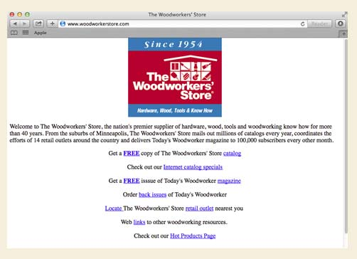 Rockler's First Website