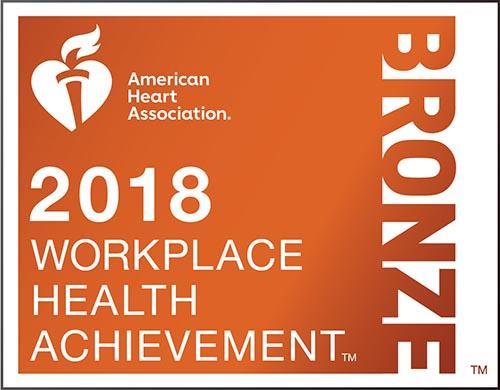 American Heart Association 2018 Bronze Workplace Health Achievement