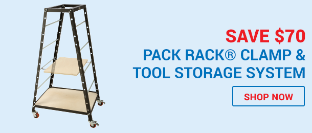 Save $70 Pack Rack Clamp & Storage System