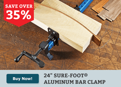 24 Sure-Foot Aluminum Bar Clamp