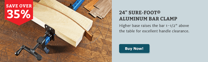 24 Sure-Foot Aluminum Bar Clamp