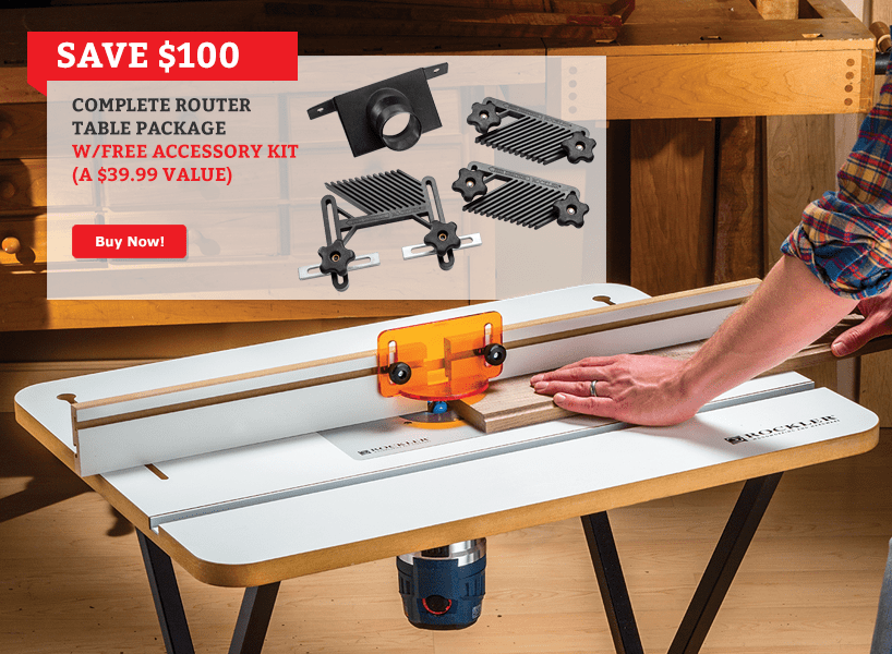Complete Router Table Package with Accessory Kit
