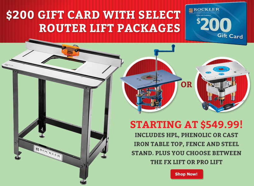 Router table package