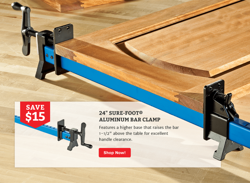 Save $15 On Sure-Foot 24 inch Bar Clamp