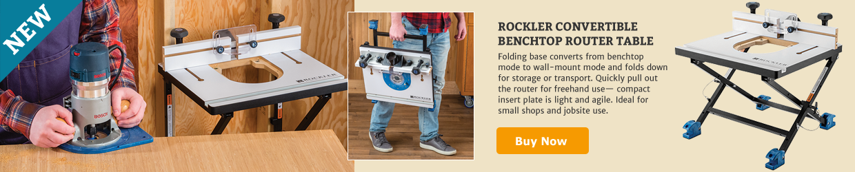 Rockler Convertible Benchtop Router Tables