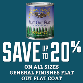 Save on general finishes  flat out top coat