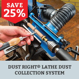 Save on the Dust Right Lathe Dust Collection System
