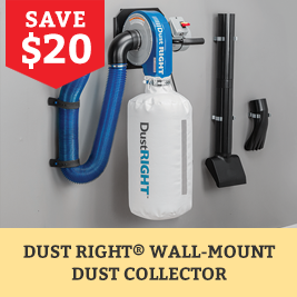 save on the dust right Wall-mount dust collector