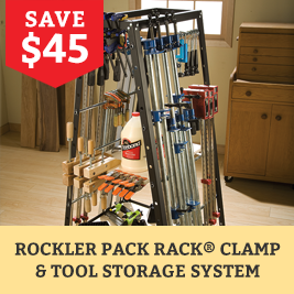 Rockler Pack Rack Clamp & Tool Storage System