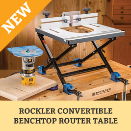 Rockler Convertible Benchtop Router Table w/Choice of Router Plate